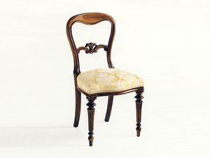 Sidney, Salle à manger chaise, de luxe de style classique, siège rembourré
