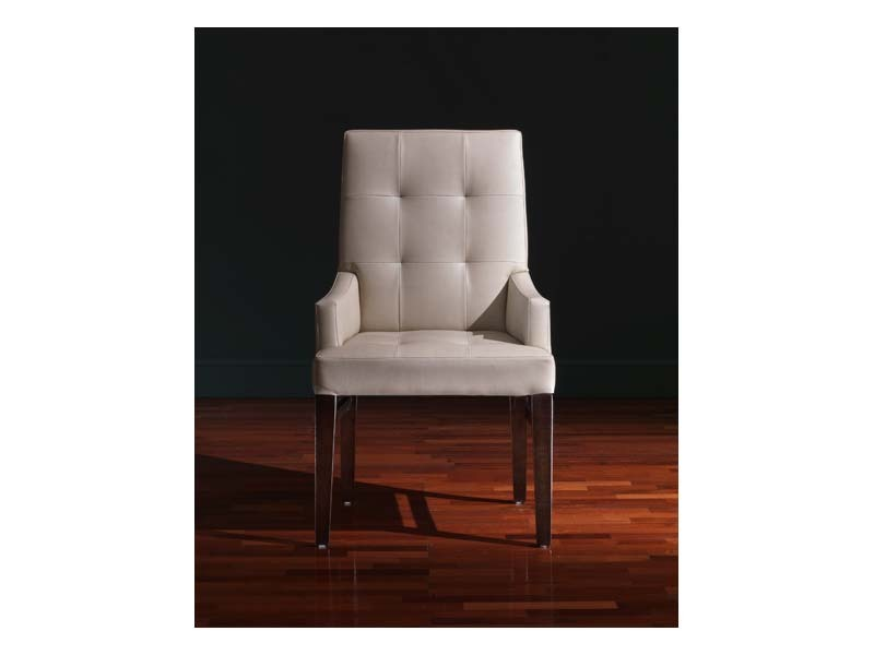 Star Head of the table, Chaise avec accoudoirs, style classique, en cuir