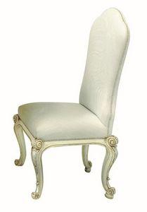 Steinmetz LU.0970, Chaise rembourrée en bois avec bordure florale