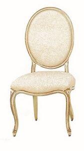 Tavernier LU.0981, Chaise en bois rembourrée classique avec le dos rond