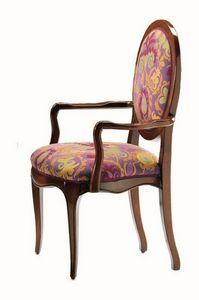 Verrocchio RA.0994, Chef de la chaise de table en noyer, dos rond, classique