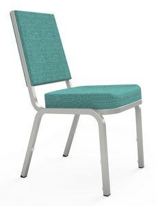 Adamas 66/3, Chaise en aluminium rembourr� pour conf�rences