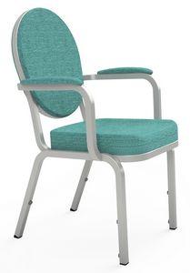 Adamas 66/4A, Chaise avec accoudoirs, pour conférences