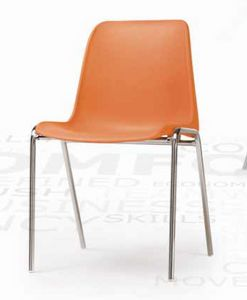 Helene, Chaise empilable avec coque en plastique