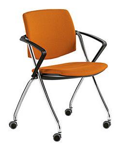 Q-Go IM, Chaise de conférence rembourrée avec roues
