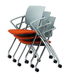 Q-Go IMPP, Chaise empilable, à roulettes