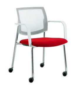 Q44, Chaise polyvalente à 4 pieds avec roues