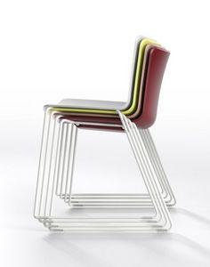 Zaza SL, Chaise empilable avec piètement luge