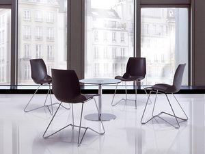 Kaleidos 4, Chaise de conférence en métal Salles de réunion
