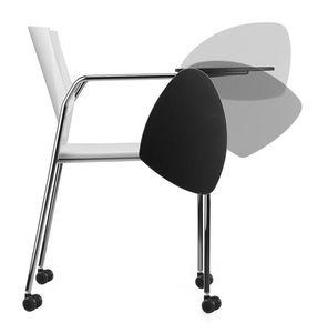 TREK 038 RTDX, Chaise de conférence en métal et polymère, avec des roues