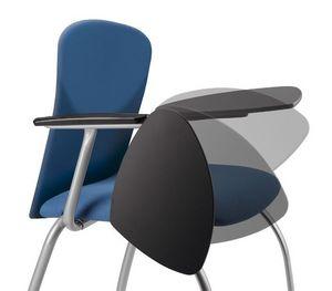 VULCAN 1275 ZTDX, Chaise rembourrée pour les conférences, avec tablette