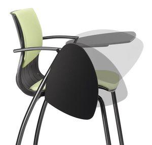 WEBBY 335 TDX, Chaise en métal et en nylon, rembourré, avec tablette