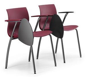 WEBBY 338 TDX, Chaise de conférence en métal, avec coque en plastique