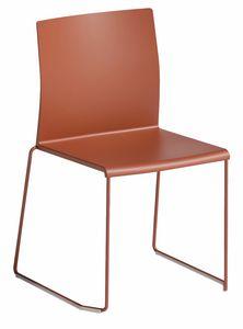 Artesia S, Chaise avec piètement luge, empilable