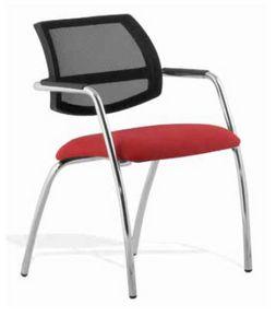 Cindy, Chaise de conférence avec dossier maillé