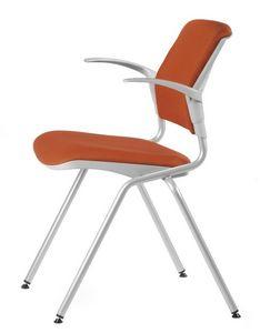NESTING DELFIBRIO 064 S, Chaise rembourrée en métal et polymère, pour les conférences