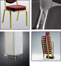 Fiora 60/1, Chaise recouverte en tissu ou cuir, ignifuge