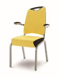 Inicio 09/2HA, Chaise coloré pour salle de conférence, liable et empilable