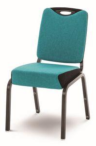 Inicio 09/4H, Chaise avec rembourrage ignifuge, empilable, pour les salles de conférence