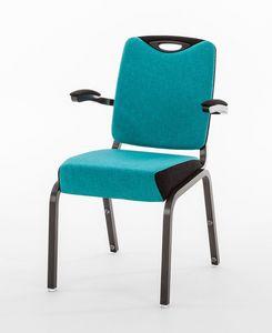 Inicio 09/4HA, Chaise de conférence avec accoudoirs, avec des accessoires optionnels