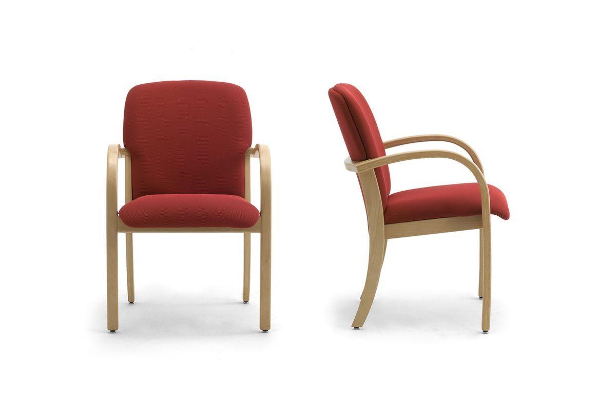 Kali 68501, Fauteuil en bois avec assise et dossier tapissés