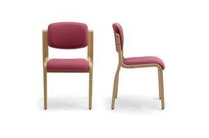 Kalos 3 169601, Chaise rembourrée en bois, pour salles de réunion et de conférence