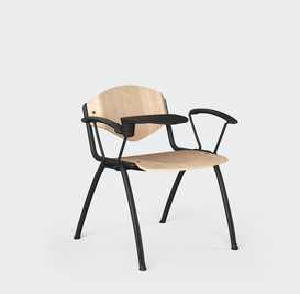 OMNIA CONTRACT 4G, Chaise à 4 pieds pour conférences, avec tablette