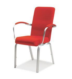 Orvia 12/3A, Chaise rembourrée confortable pour les conférences, l'épreuve du feu, empilable