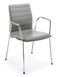 Q2 IM, Chaise rembourrée avec accoudoirs, pour conférences