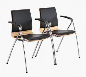 Q2 W, Chaise avec accoudoirs pour conférence