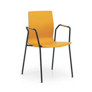 Q3, Chaise de conférence avec assise et dossier en plastique