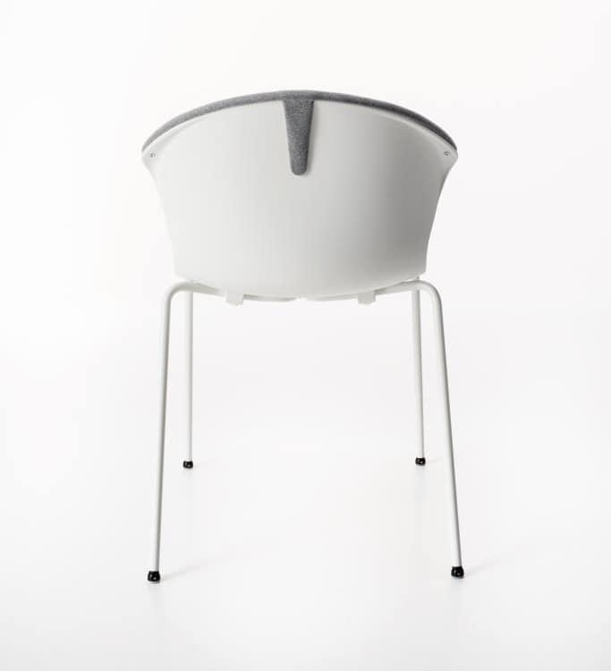 Red Hot 4 jambes rembourré, Confortable et élégante chaise rembourrée pour conférence