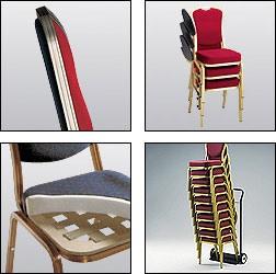 Siena-Allday 62/2 E, Chaise pour les conférences et réunions, avec tablette d'écriture