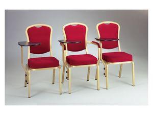 Siena-Allday 62/2 E, Chaise pour les conf�rences et r�unions, avec tablette d'�criture