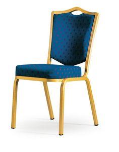 Siena-Allday 62/4E, Chaise avec rembourrage ignifuge, léger et empilable