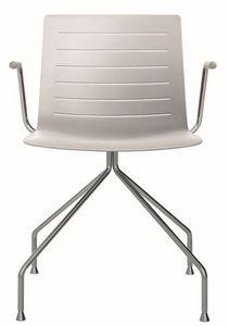 Slim 03A, Chaise avec accoudoirs idéal pour salle de réunion