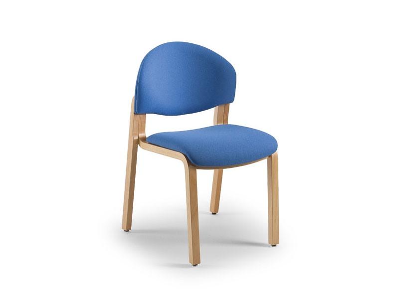 Soleil 68151, Chaise rembourrée avec structure en bois, pour salles d'attente