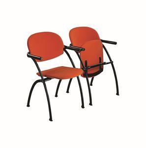 Aura linking chair, Chaise métallique amovible et strapontin