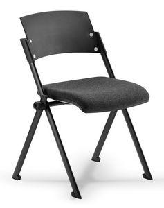 Comoda 01, Chaise empilable avec siège rabattable, pour salle de conférence