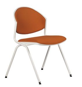 NESTING DELFI 088 S, Chaise empilable en métal et polymère, pour salle de conférence