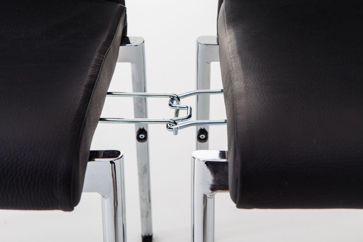 Evosa Congress 08/3, Président multi-usages en acier, assise, le dos anatomique, pour des conférences, réunions, banquets