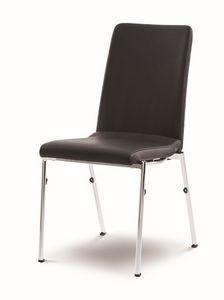 Evosa Congress 08/4, Chaise en acier extrêmement confortable, siège galbé, pour les salles de conférence