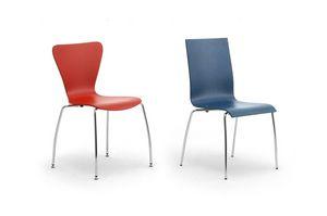 Gardena 0653LE, Chaise en métal et bois, pour bureaux et salles d'attente