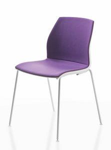 Kalea, Chaise empilable en différentes couleurs, pour Congress Hall