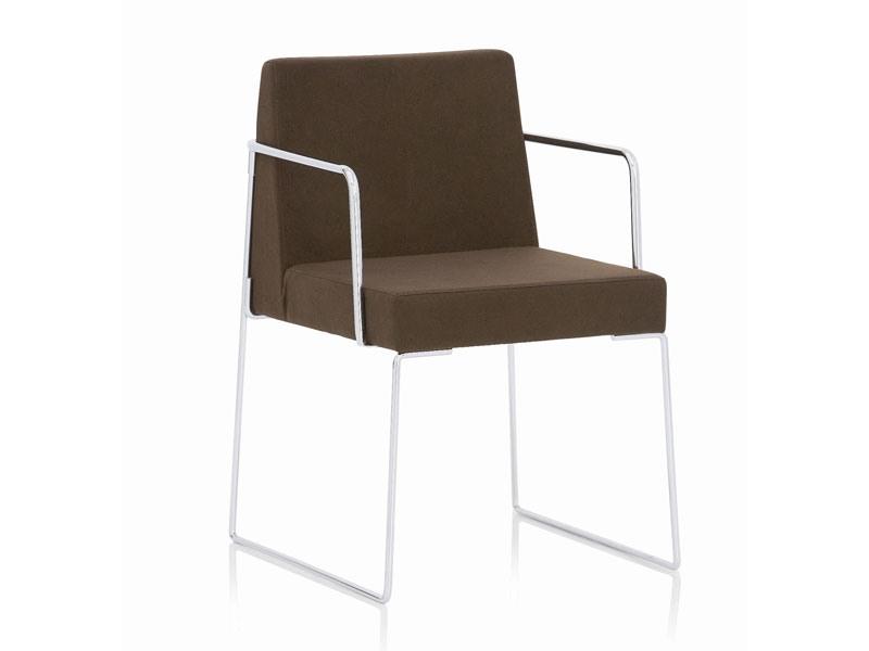 Kalida 602C , Chaise avec luge, revêtement ignifuge, pour une réunion