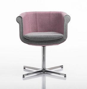 Liz 4 feets, Chaise pour réunions, pivotant, base en aluminium