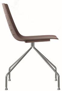 Slim 03, Métal et chaise en plastique idéal pour les salles de réunion