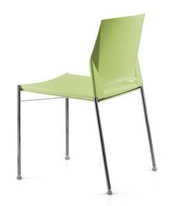 TREK 035, Chaise de conférence empilable avec base en métal