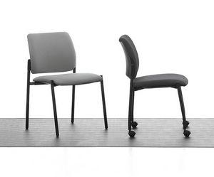 Urban Soft 01, Métal chaise rembourrée, pour la conférence