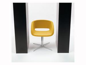 Vanity 4 feets, Chaise rembourrée pour la conférence, la base et la coque en acier